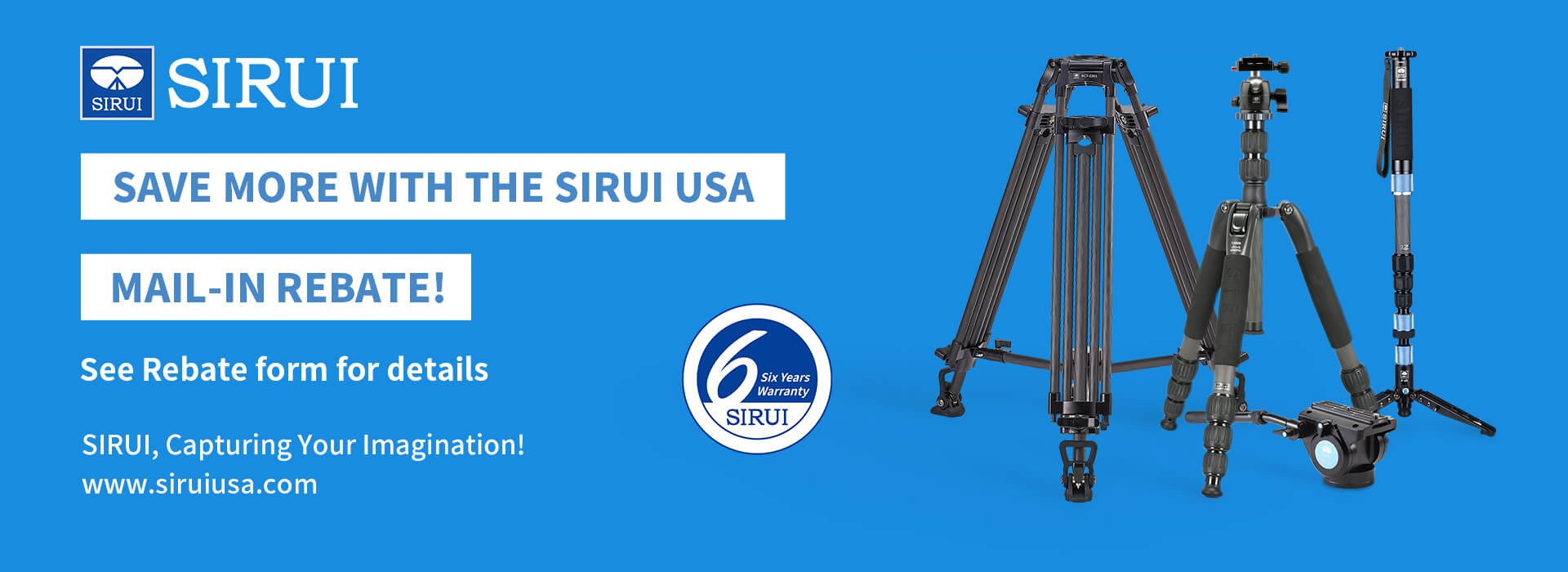 Sirui USA Rebate Program